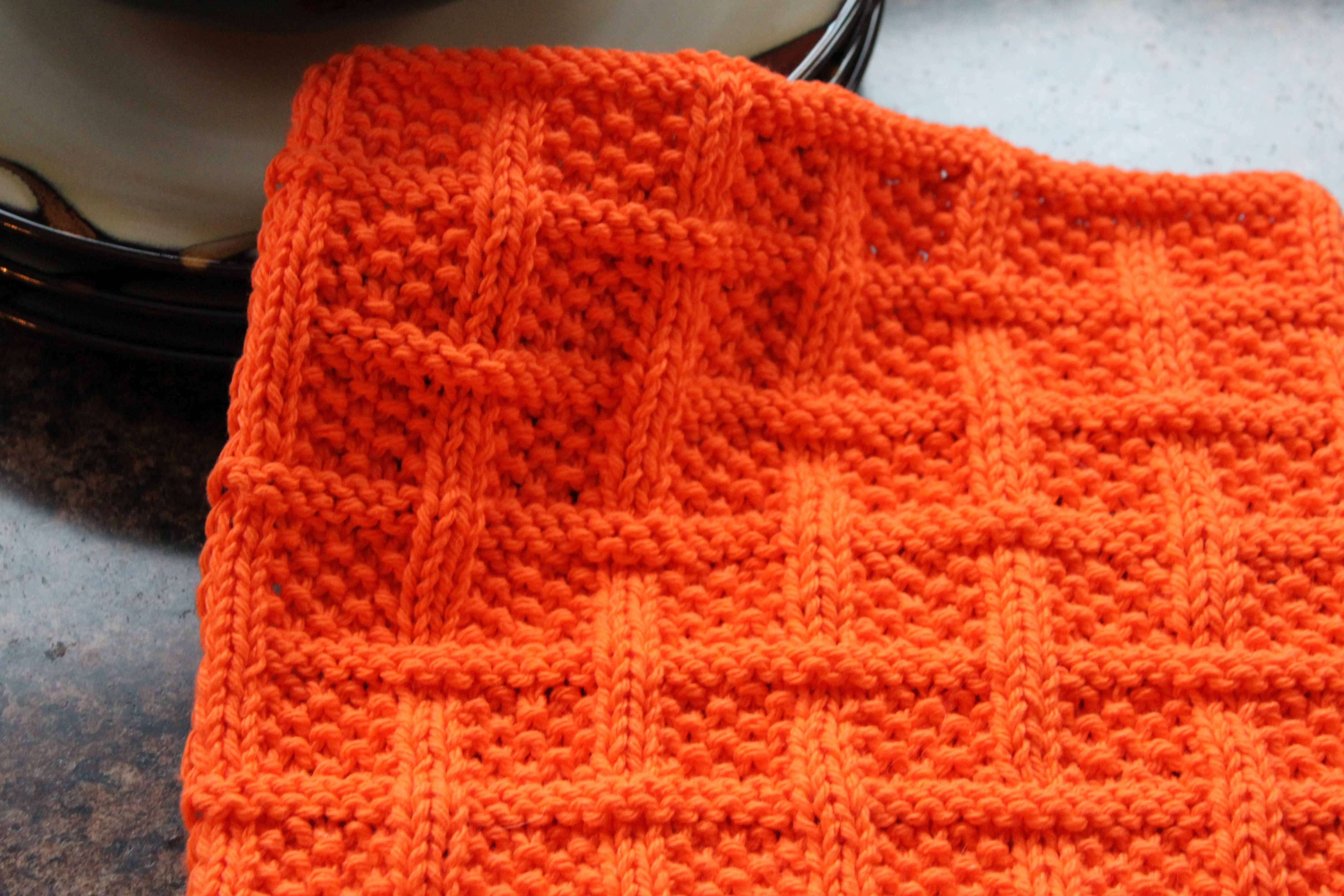 Free Knitted Dishcloth Pattern Square Lattice Dishcloth Leah Michelle Designs