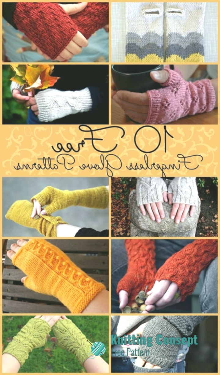 Free Knitted Glove Patterns 10 Free Fingerless Gloves Patterns Free Knitting Patterns