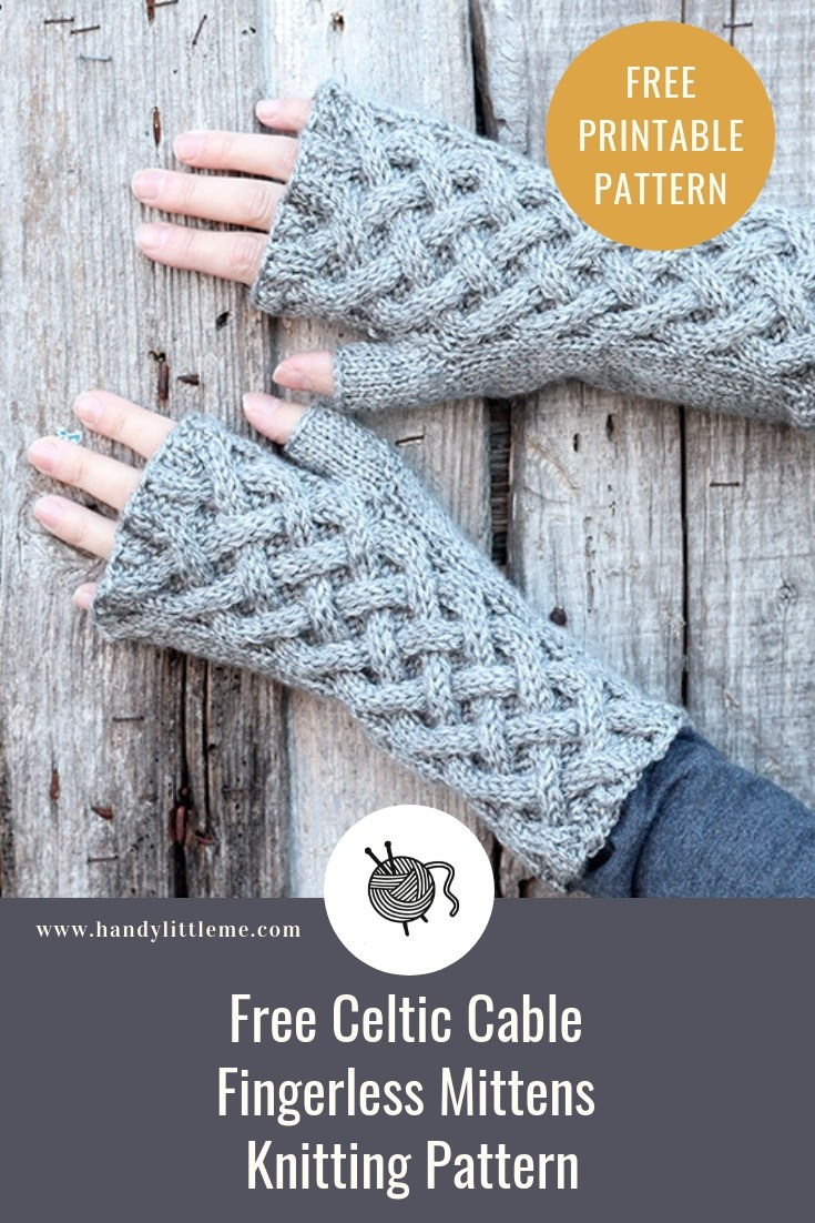 Free Knitted Glove Patterns Celtic Cable Fingerless Gloves Pattern Free Knitting Patterns