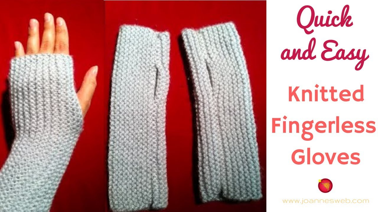 Free Knitted Glove Patterns Knitted Fingerless Gloves A Quick And Easy Knitted Project Fingerless Mitts