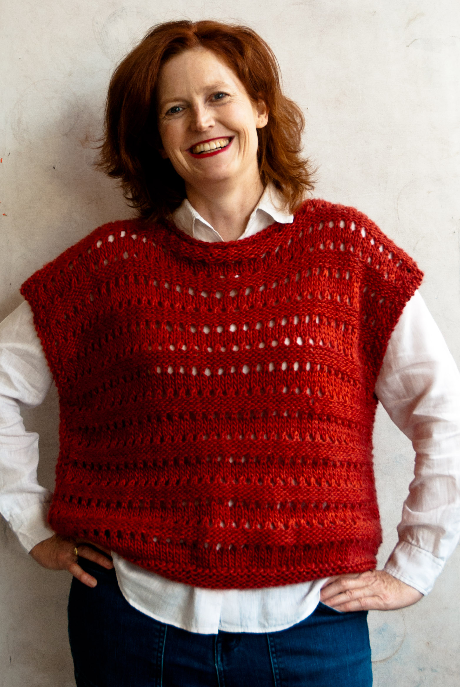 Free Knitted Top Patterns An Easy Aran Knit Top Cowgirlblues