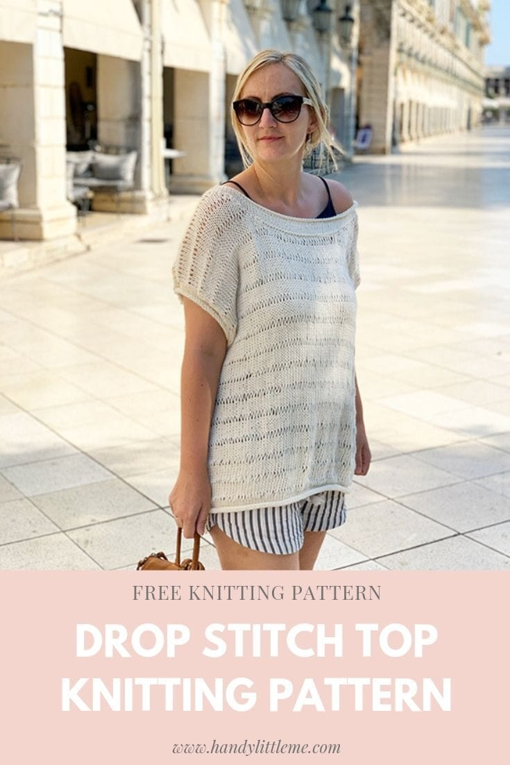 Free Knitted Top Patterns Drop Stitch Knit Top Pattern Free Knitting Patterns Handy Little Me