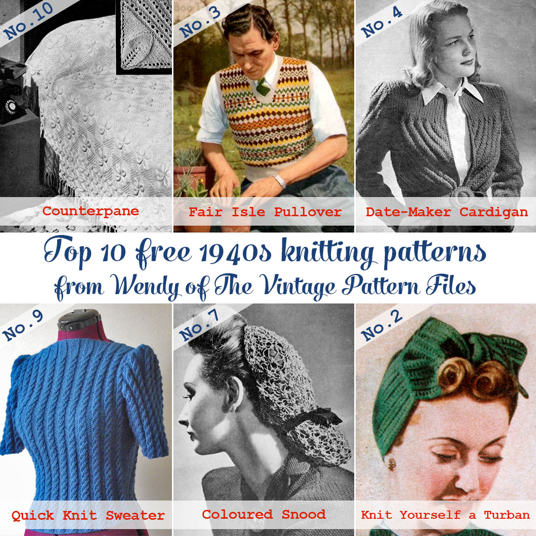 Free Knitted Top Patterns Guest Post Top 10 Free 1940s Knitting Patterns From The Vintage