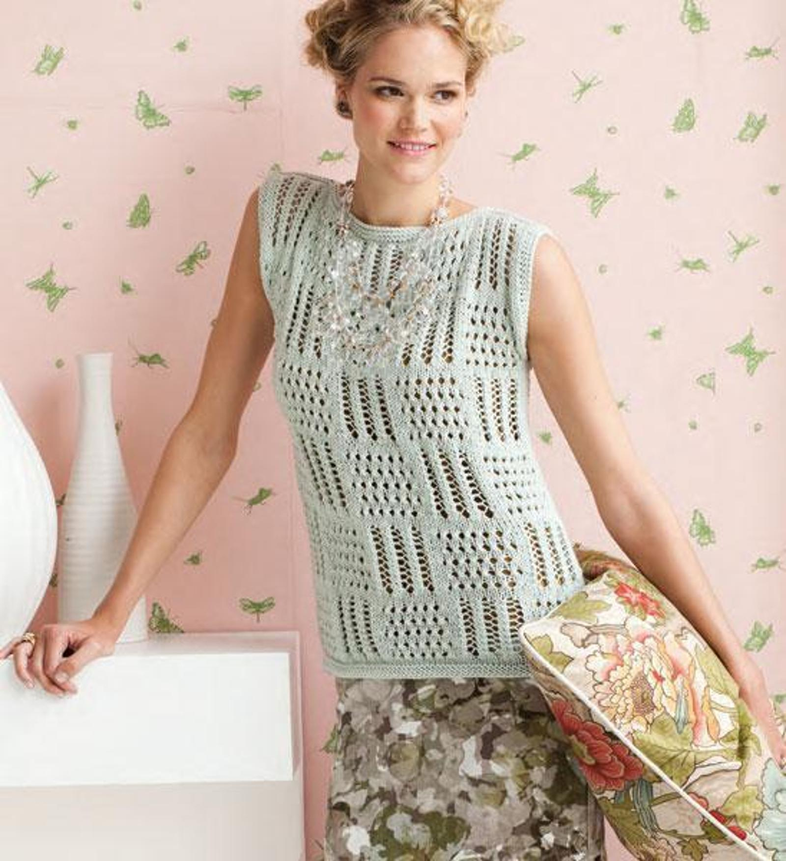 Free Knitted Top Patterns Knit Lace Top Patterns Perfect For Summer