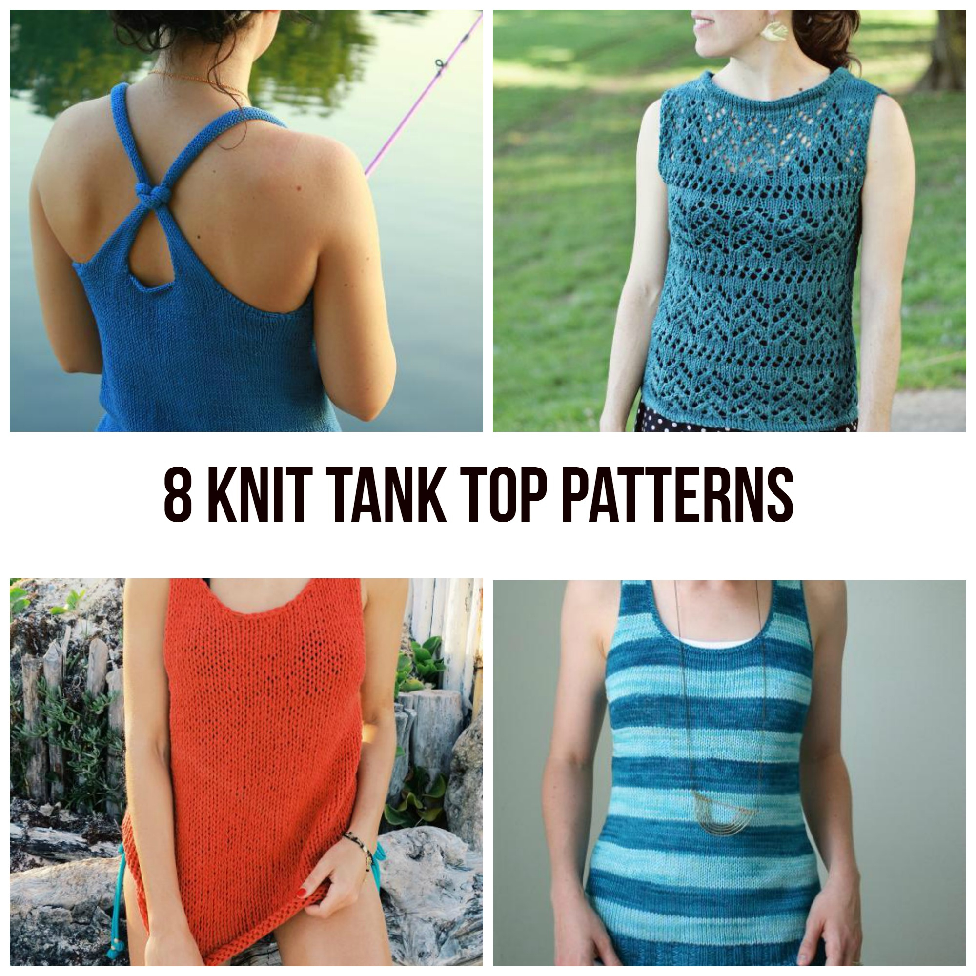 Free Knitted Top Patterns Knit Tank Top Patterns For Summer