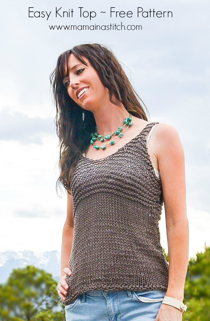 Free Knitted Top Patterns Simple Cocoa Knit Sleeveless Top Pattern Mama In A Stitch