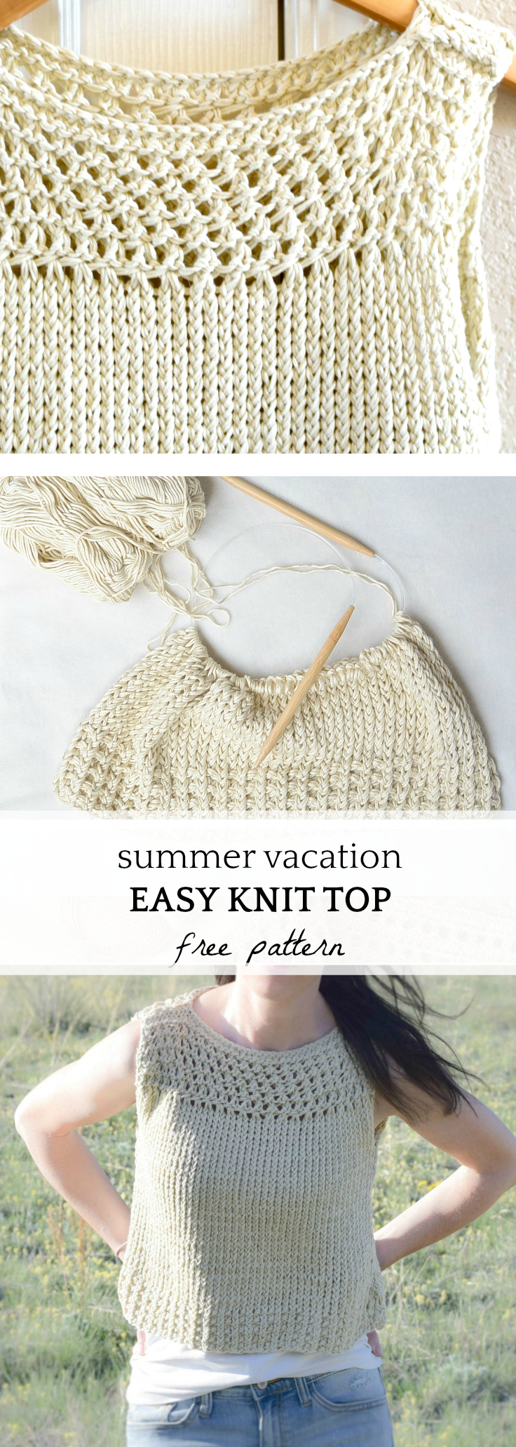 Free Knitted Top Patterns Summer Vacation Knit Top Pattern Mama In A Stitch