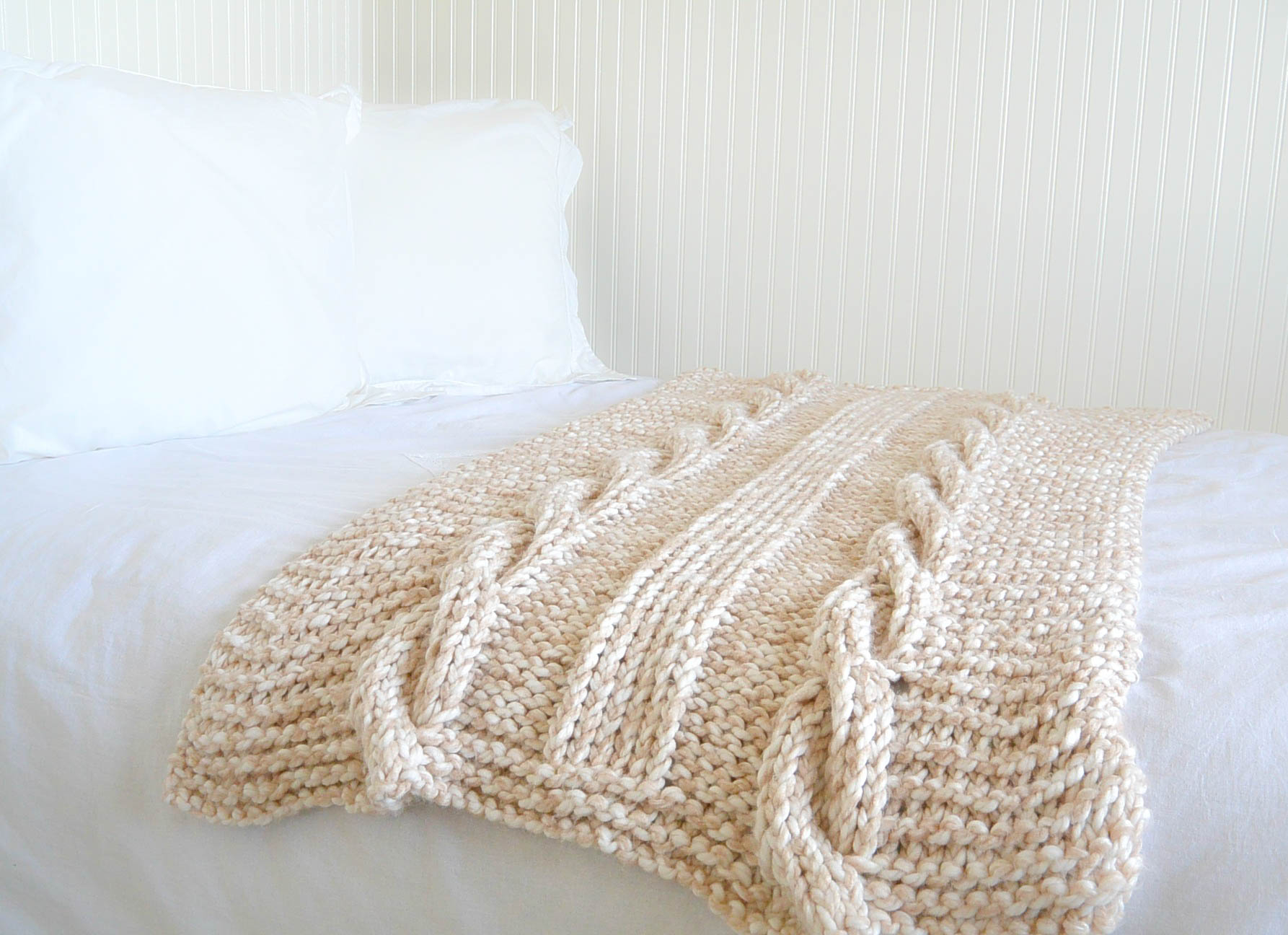 Free Knitting Afghan Patterns For Beginners Endless Cables Chunky Knit Throw Pattern Mama In A Stitch