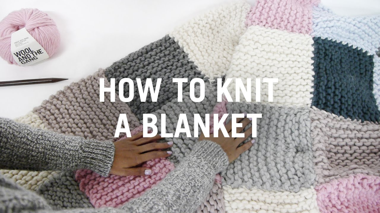 Free Knitting Afghan Patterns For Beginners How To Knit A Blanket Step Step