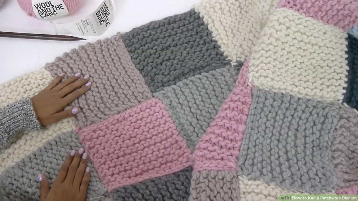 Free Knitting Afghan Patterns For Beginners How To Knit A Patchwork Blanket With Pictures Wikihow