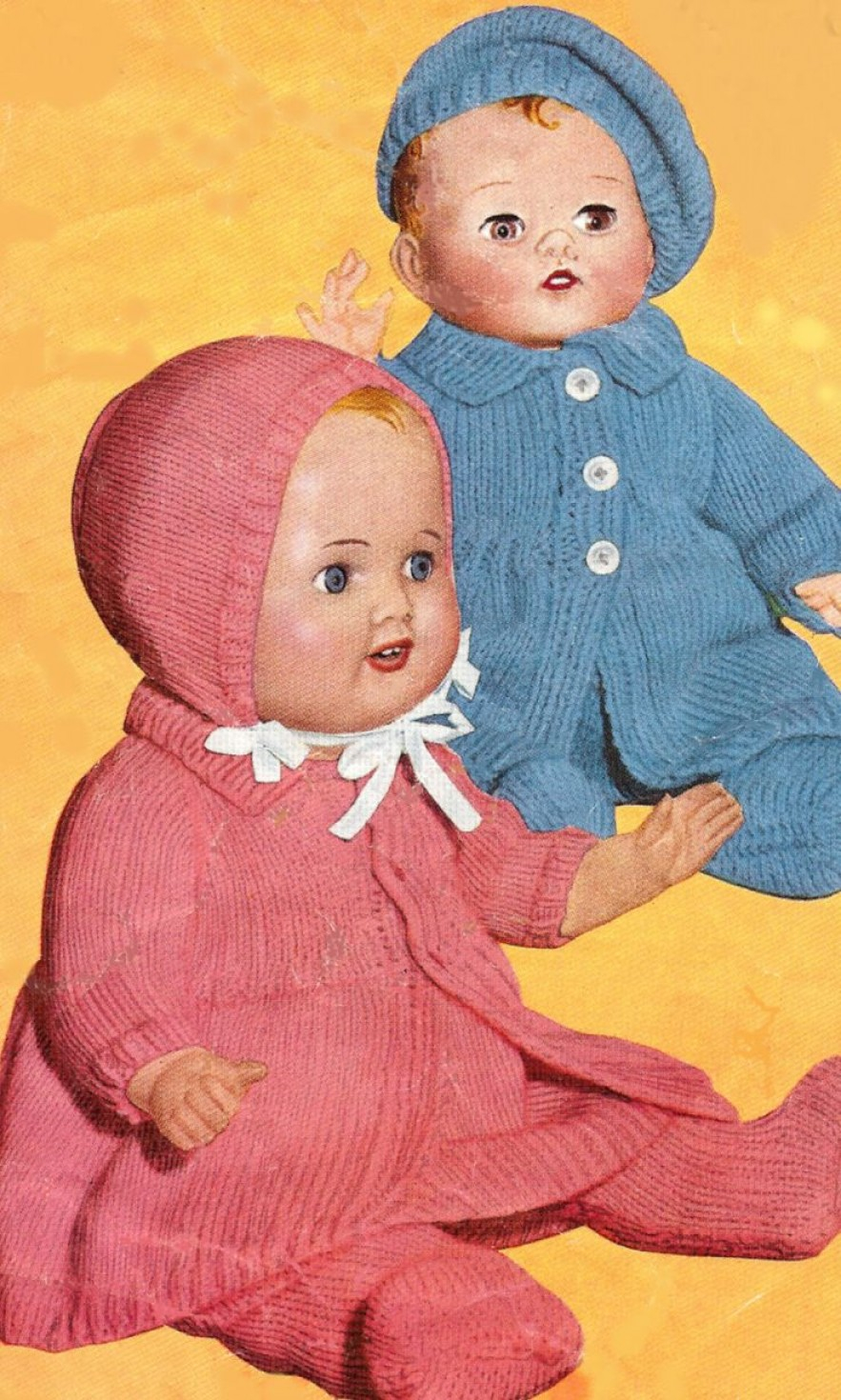 Free Knitting Doll Patterns Free Knitting Doll Clothes Patterns 1940s
