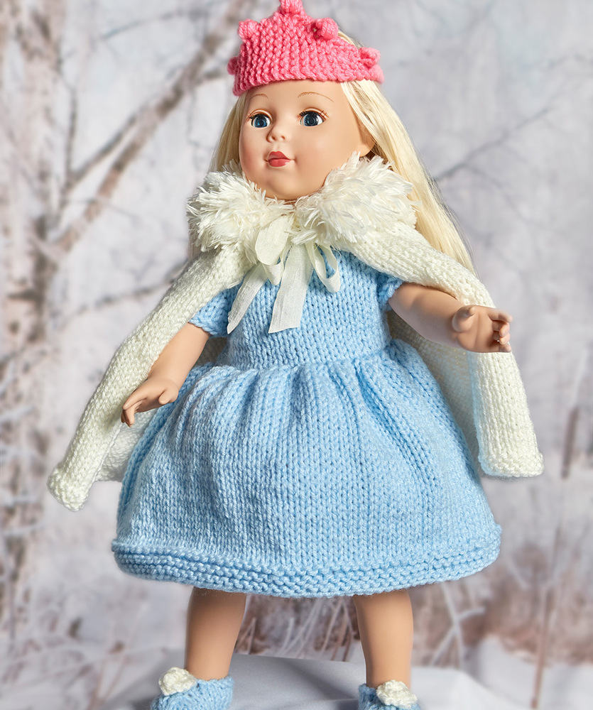Free Knitting Doll Patterns Royal Princess Doll Outfit Red Heart
