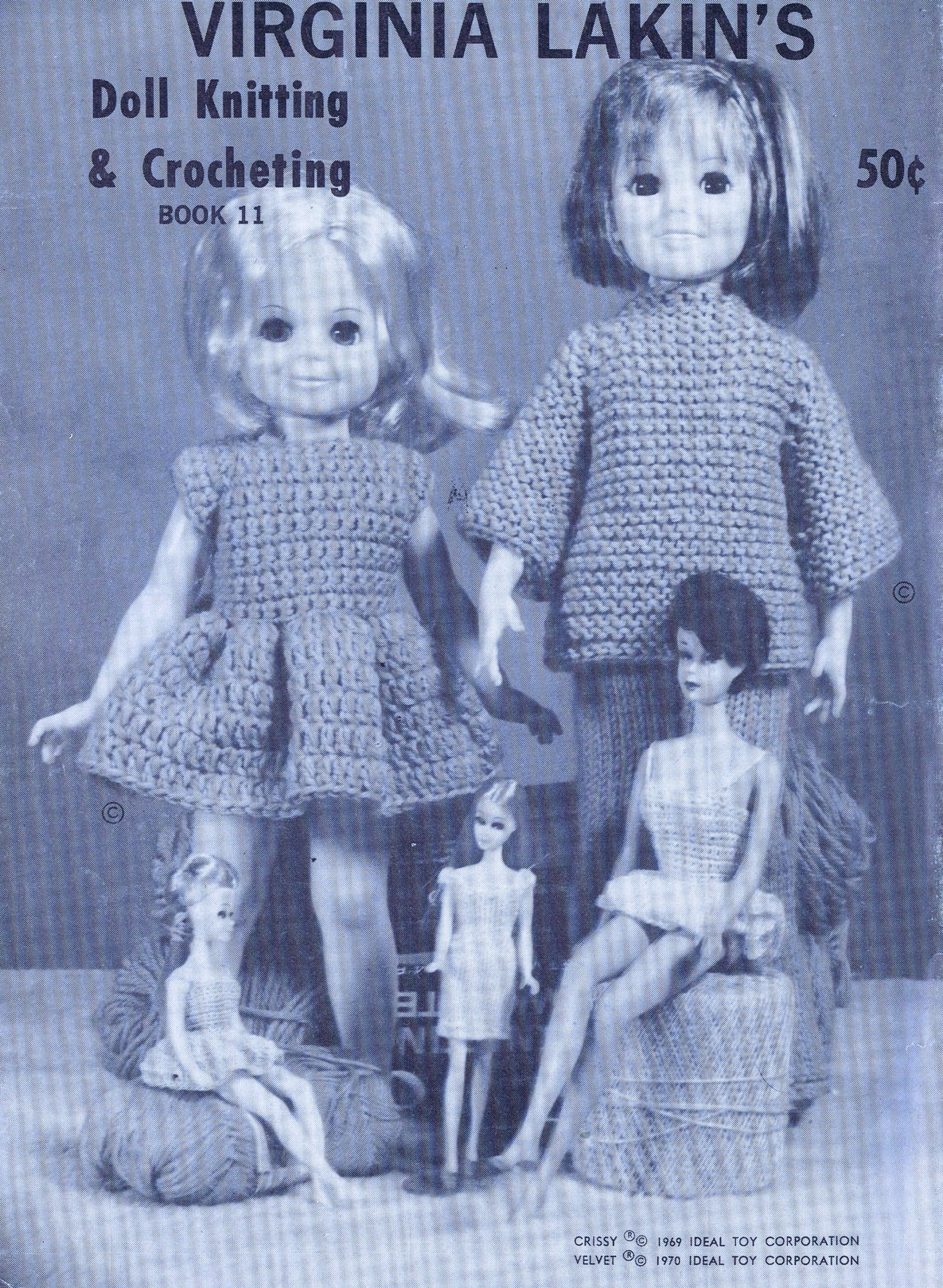 Free Knitting Doll Patterns Sharing Vintage Crochet Knitted Doll Clothes