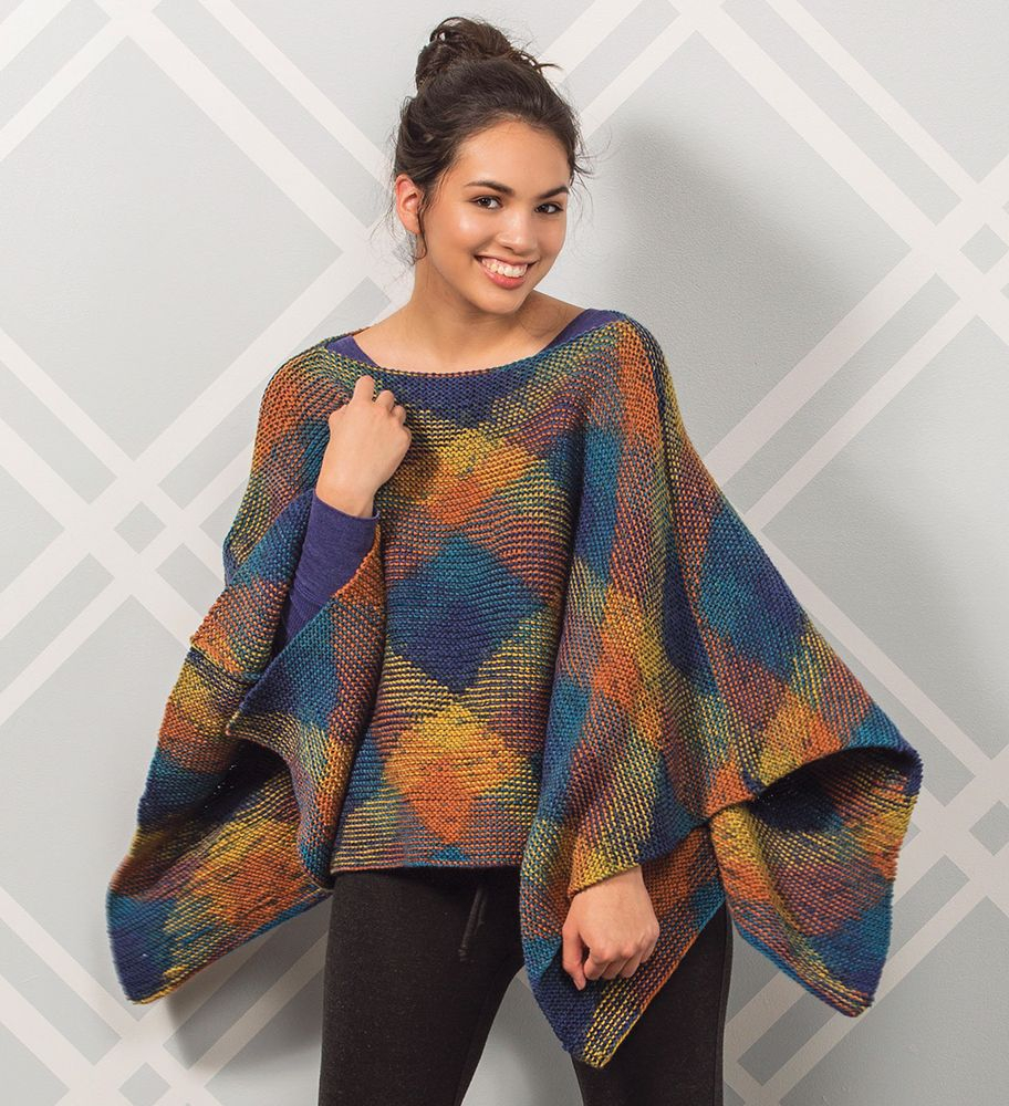 Free Knitting Pattern For A Poncho Free Loch Ness Knit Poncho Pattern