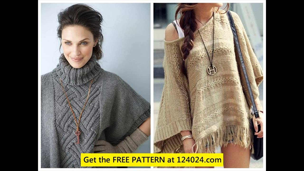 Free Knitting Pattern For A Poncho Knit Ponchos Free Knitted Poncho Patterns Youtube