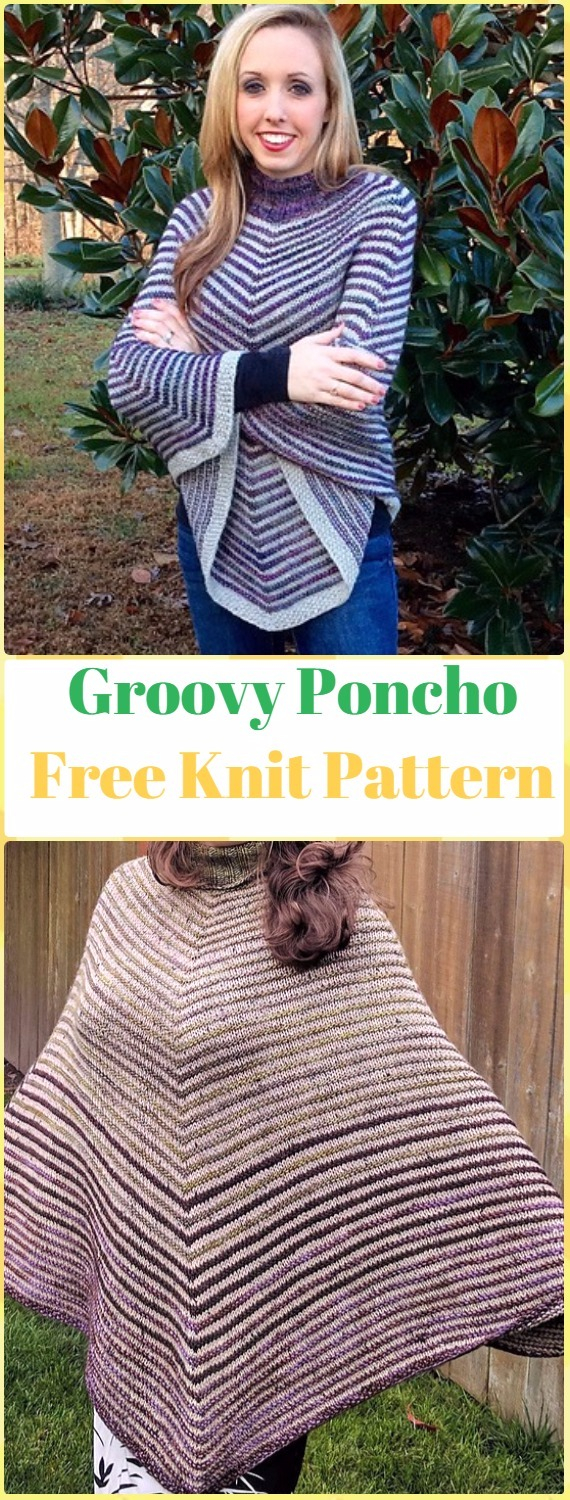 Free Knitting Pattern For A Poncho Knit Women Capes Poncho Free Patterns Instructions