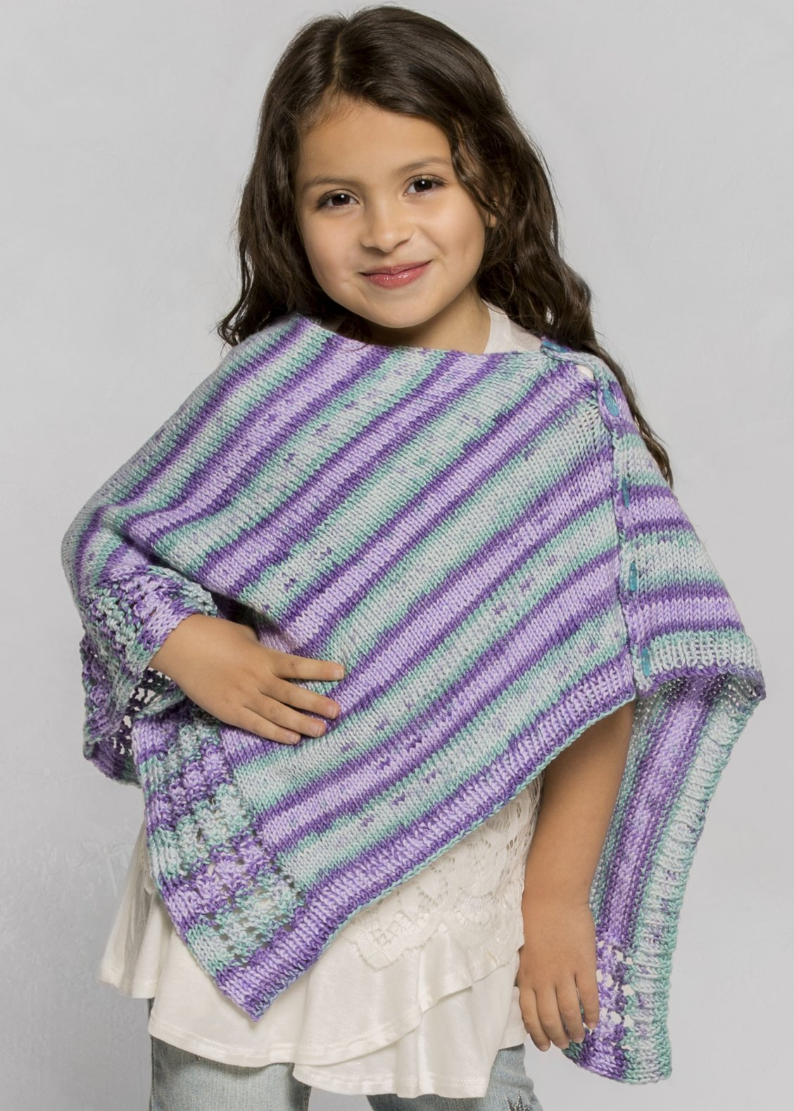 Free Knitting Pattern For A Poncho Knitting Patterns Galore Verbena Poncho