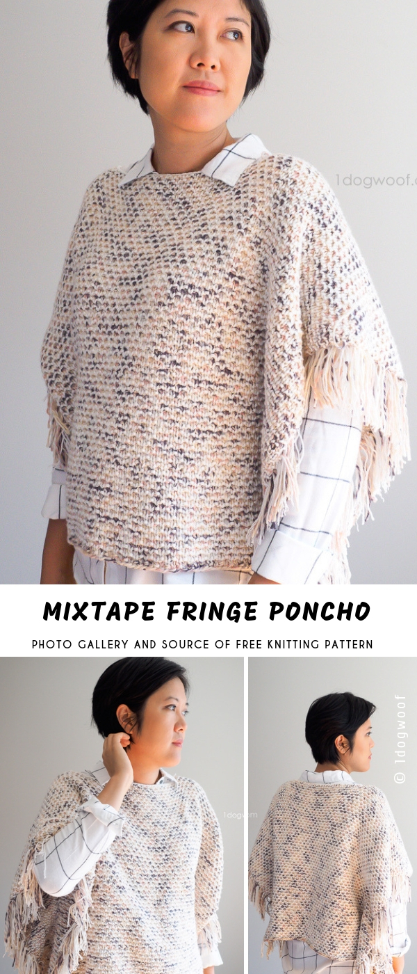 Free Knitting Pattern For A Poncho Mixtape Fringe Knitting Poncho With Free Pattern Pattern Center