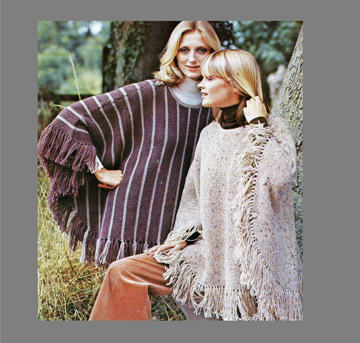 Free Knitting Pattern For A Poncho Pdf Knitting Pattern Womens Poncho Cape Womens Etsy