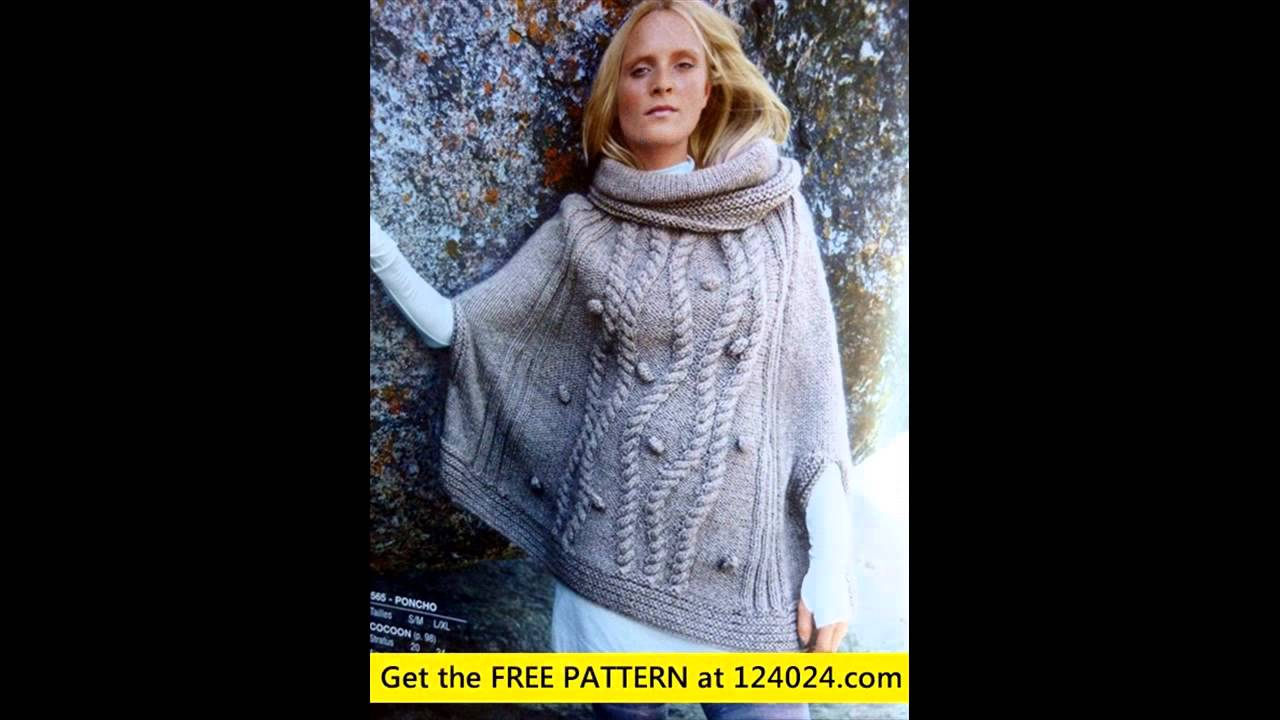 Free Knitting Pattern For A Poncho Poncho Knitting Patterns Poncho Knitting Pattern Youtube