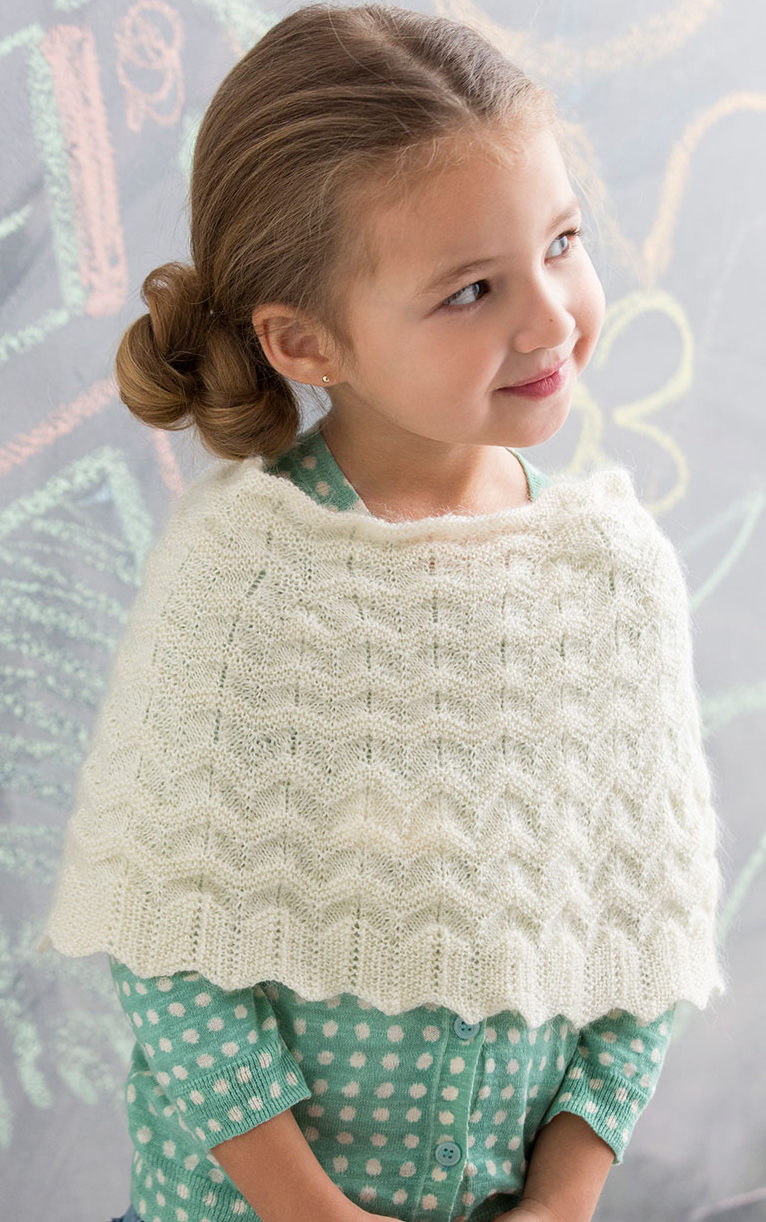 Free Knitting Pattern For A Poncho Ponchos For Babies And Children In The Loop Knitting