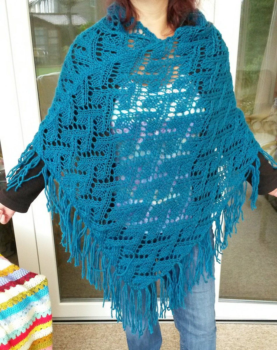 Free Knitting Pattern For A Poncho Terry Matz On Twitter Free Knitting Pattern For Oak Wood Poncho