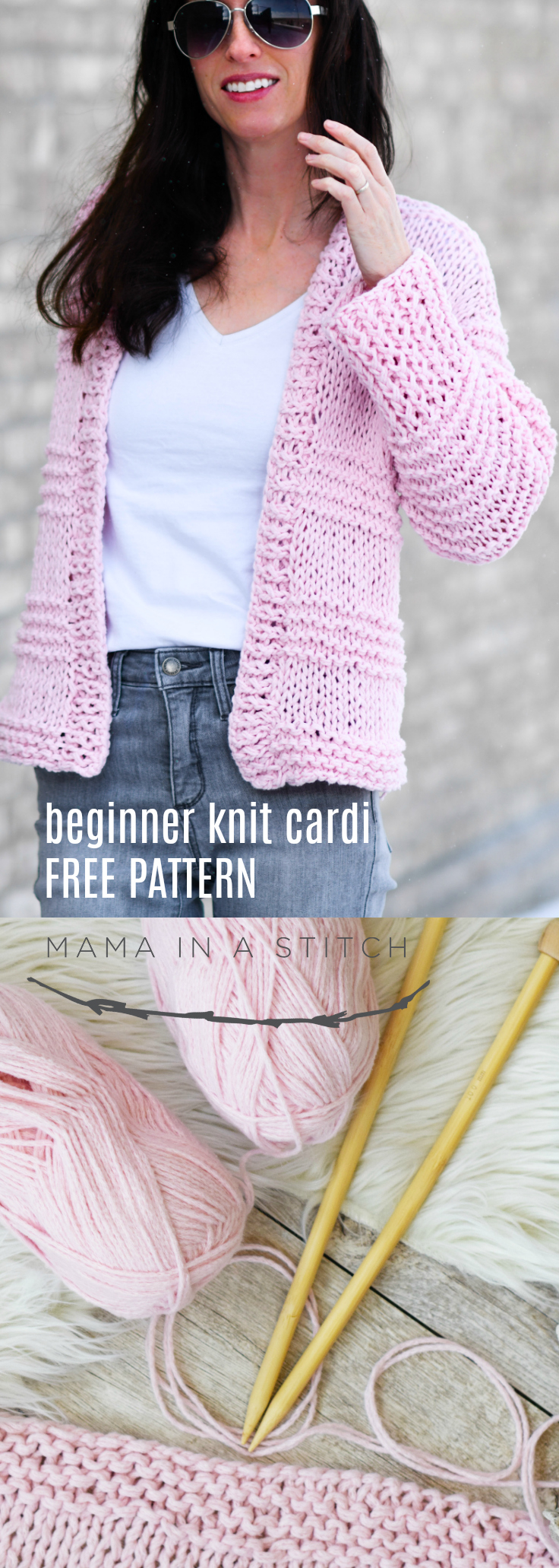 Free Knitting Pattern Sweater Cotton Candy Easy Knit Cardigan Pattern Mama In A Stitch