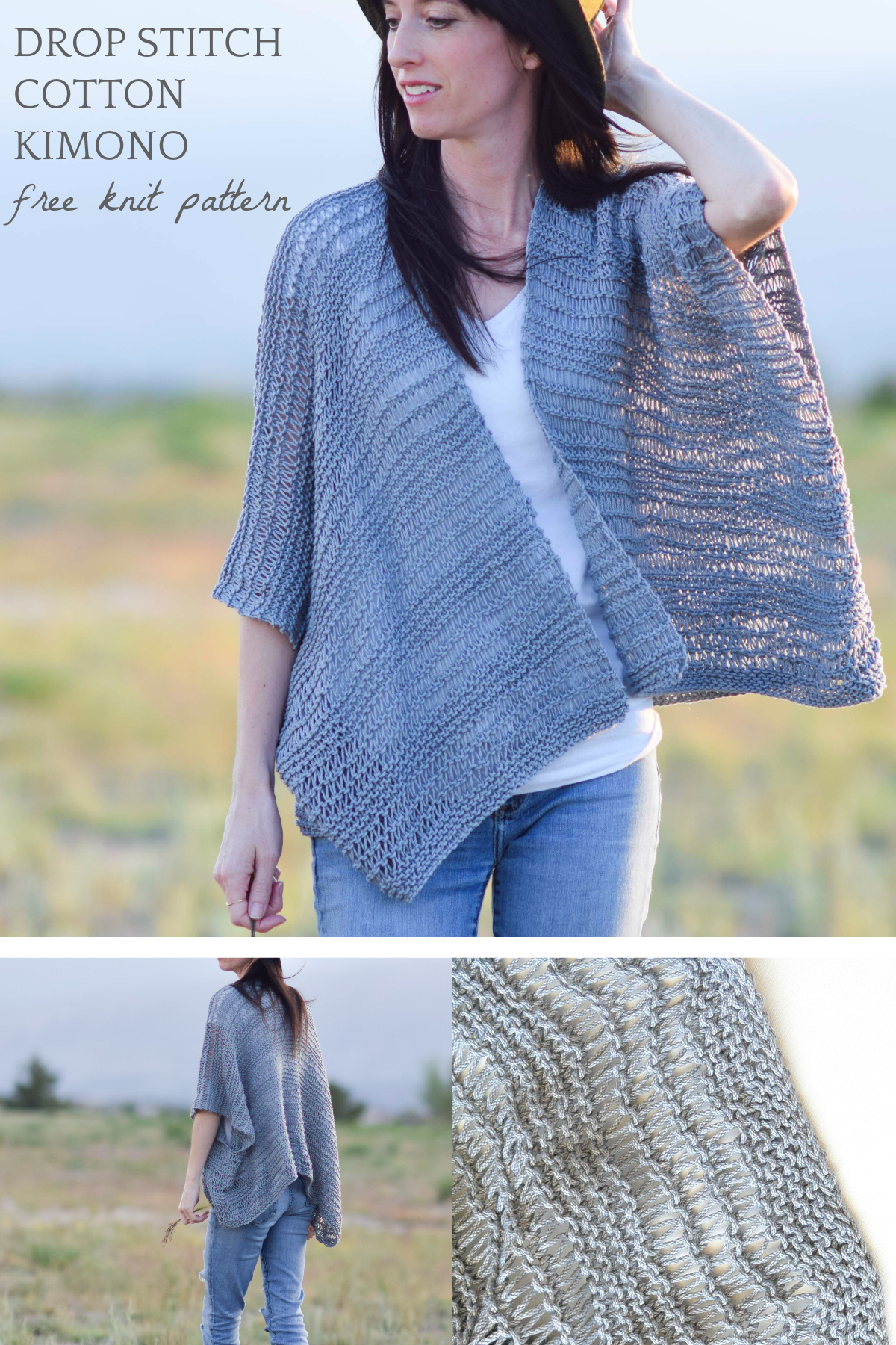 Free Knitting Pattern Sweater Drop Stitch Cotton Easy Kimono Knitting Pattern Mama In A Stitch