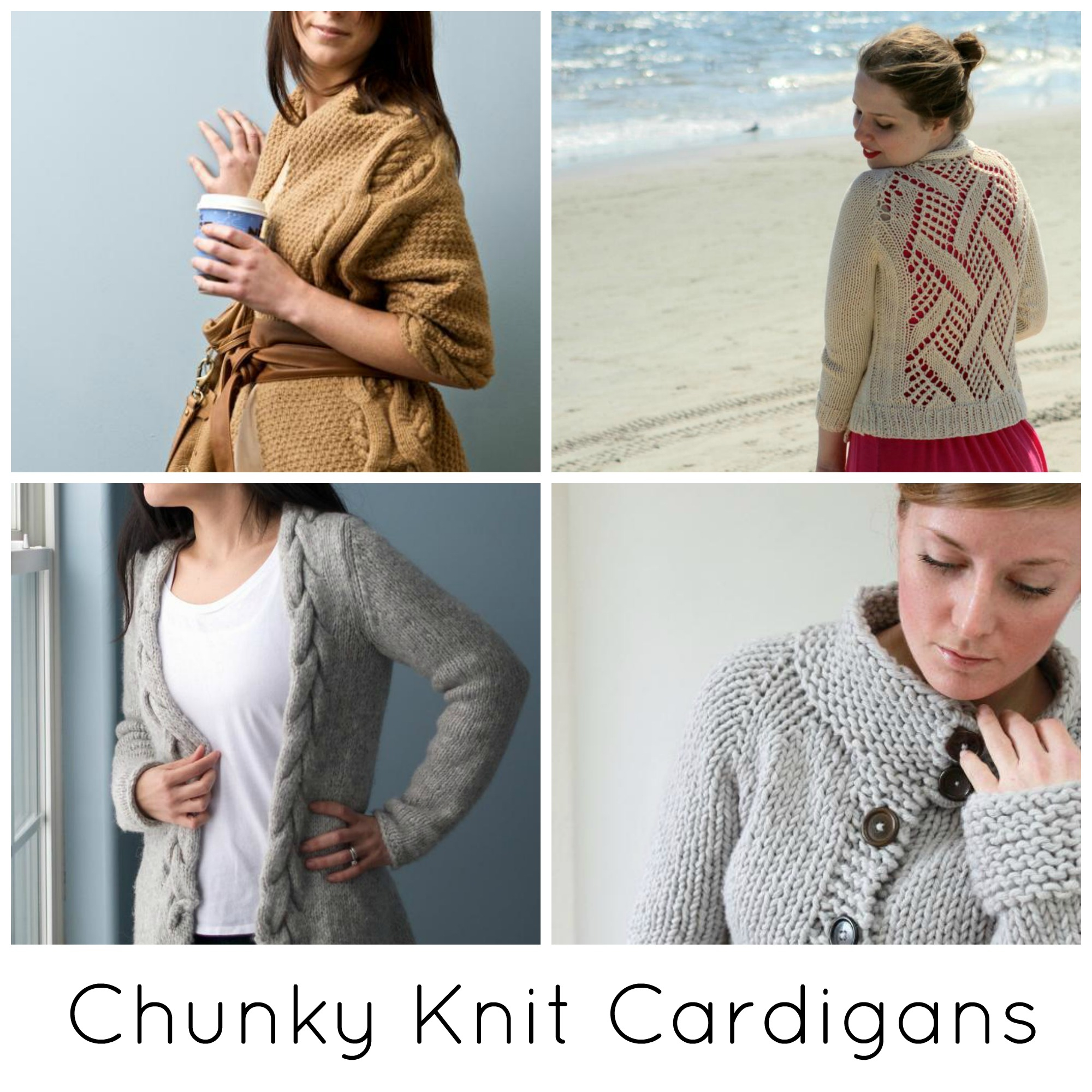 Free Knitting Pattern Sweater The Coziest Chunky Knit Cardigan Patterns Ever