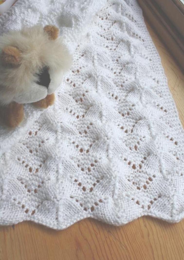 Free Knitting Patterns For Baby Blankets Ba Blankets Knitting Free Patterns