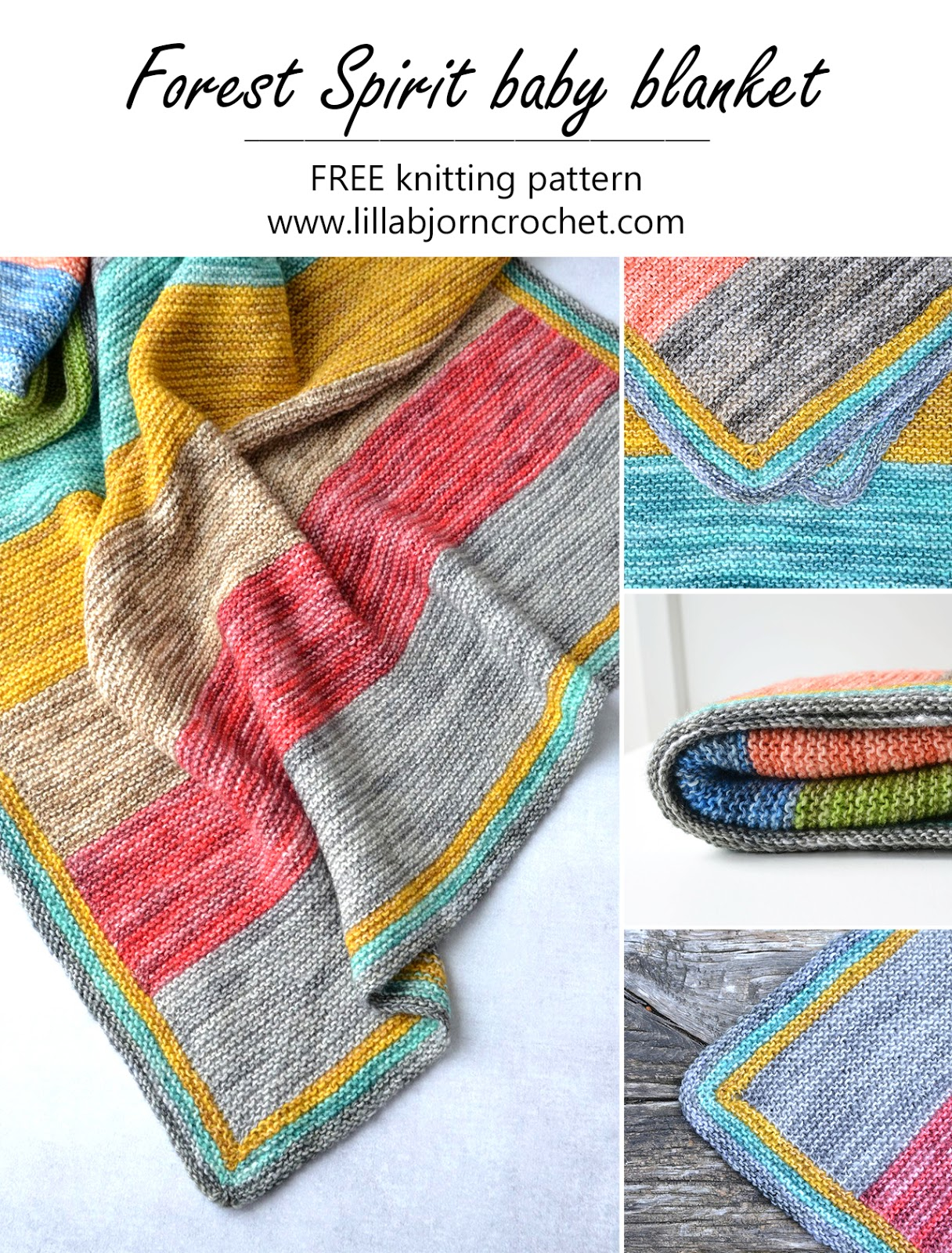 Free Knitting Patterns For Baby Blankets Forest Spirit Ba Blanket Free Knitting Pattern Lillabjrns