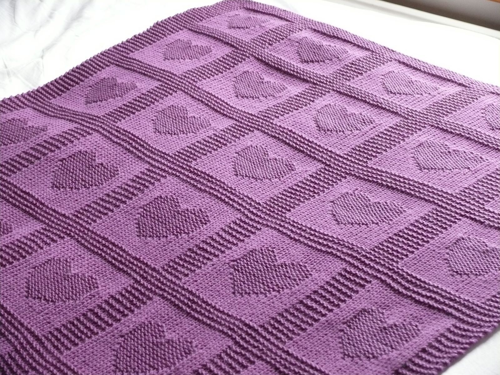 Free Knitting Patterns For Baby Blankets Heart Ba Blanket Ann Saglimbene Free Knitted Pattern Knitting