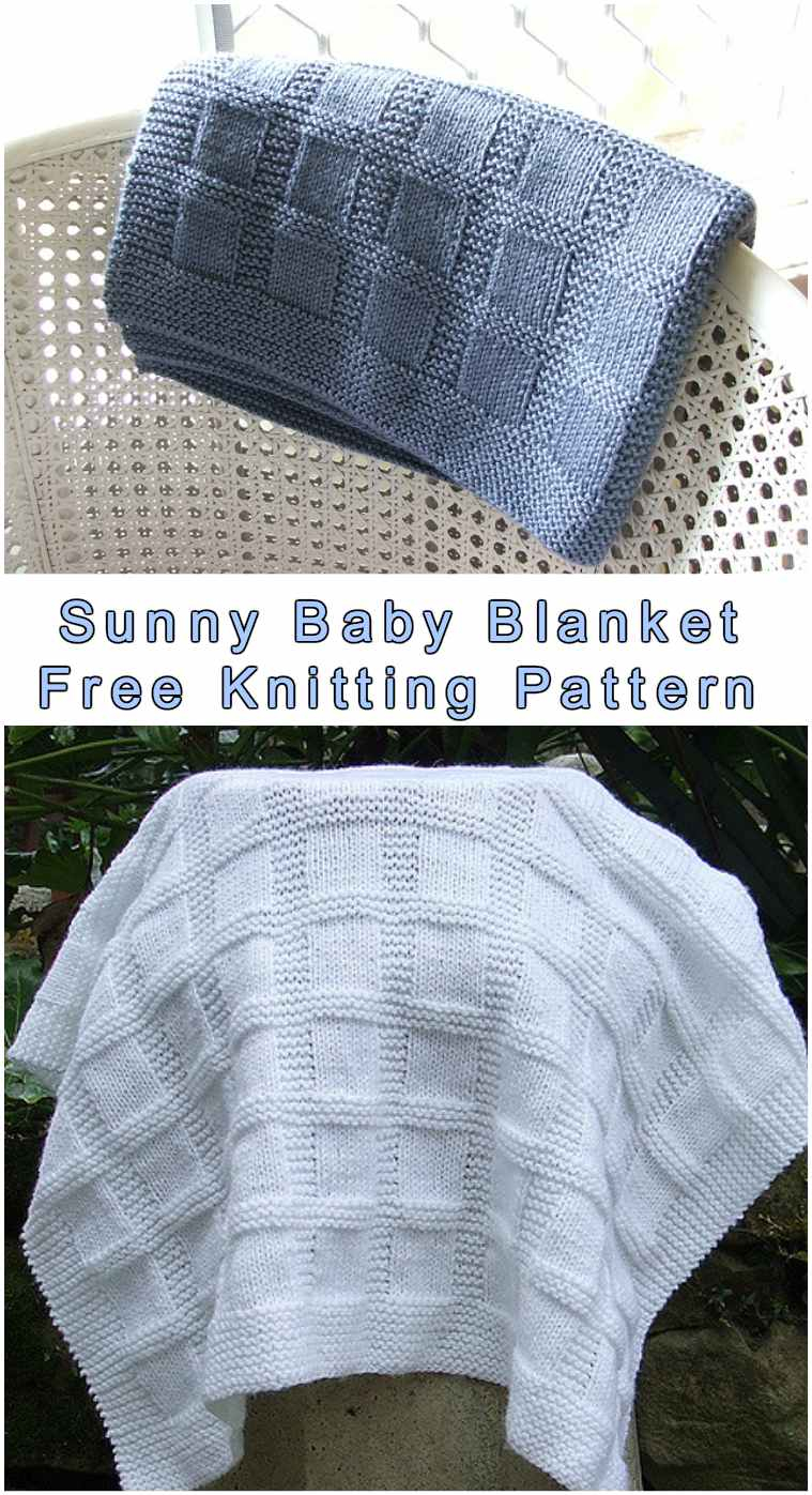 Free Knitting Patterns For Baby Blankets Sunny Ba Blanket Styles Idea