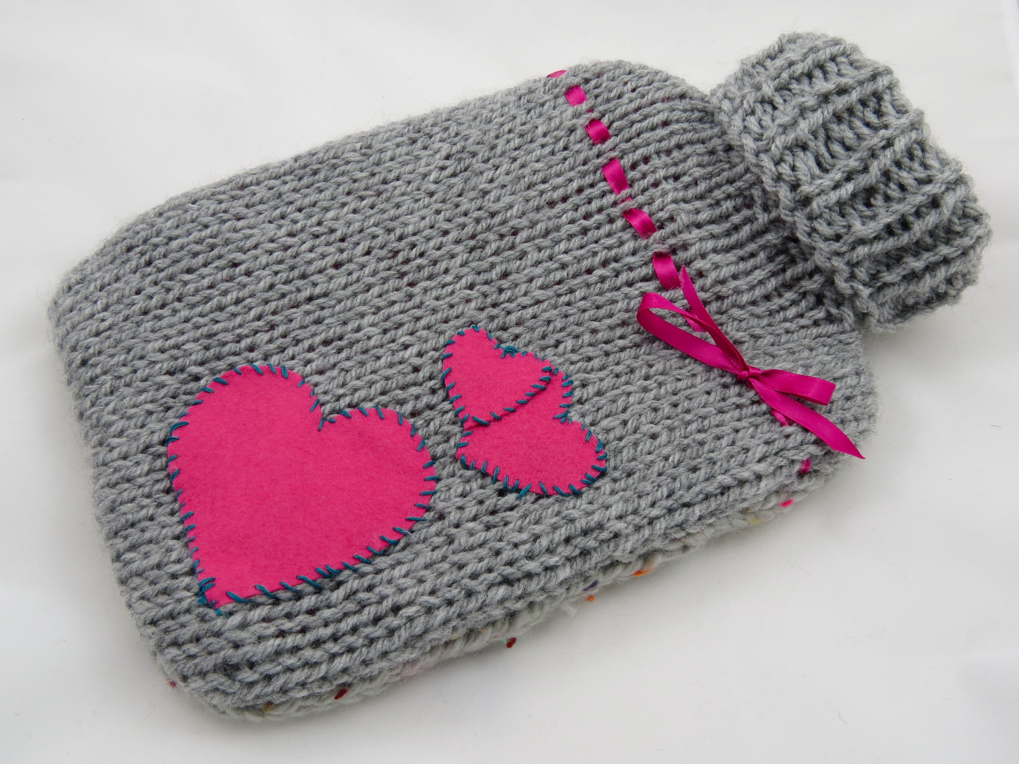 Free Knitting Patterns For Beginners Uk 8 Ply Free Knitting Pattern For Hot Water Bottle Cover