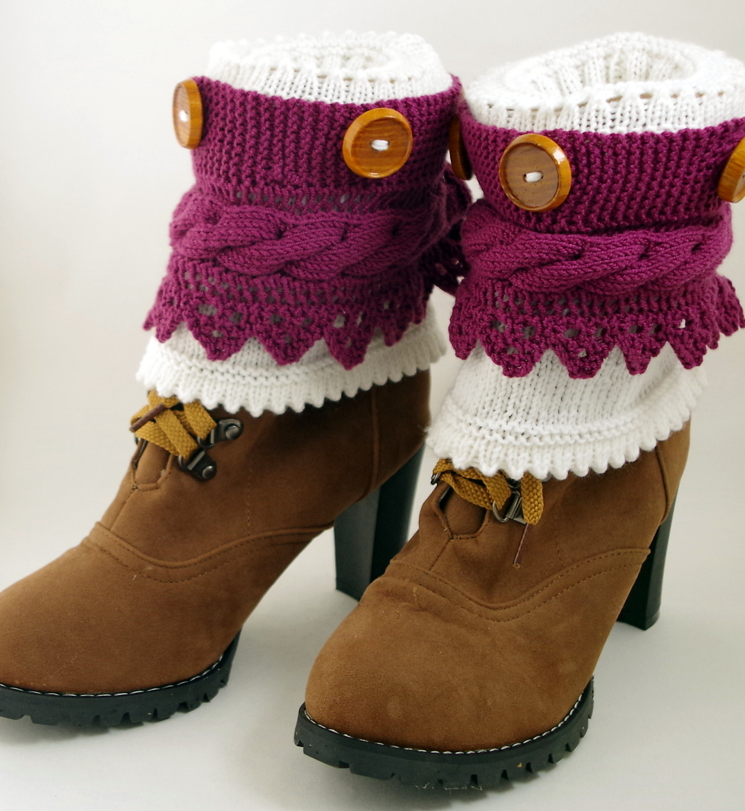 Free Knitting Patterns For Boot Toppers Boot Cuff Knitting Patterns In The Loop Knitting