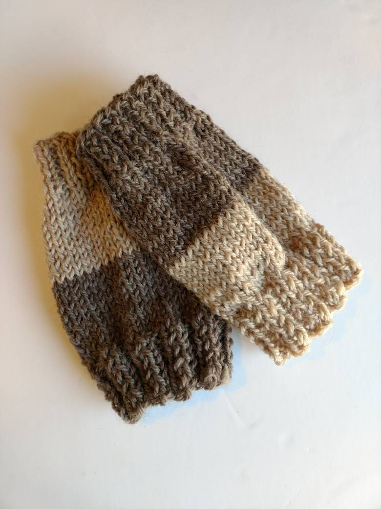 Free Knitting Patterns For Boot Toppers Cuffs Two Color Brown Boot Toppers One Size Fits All Women