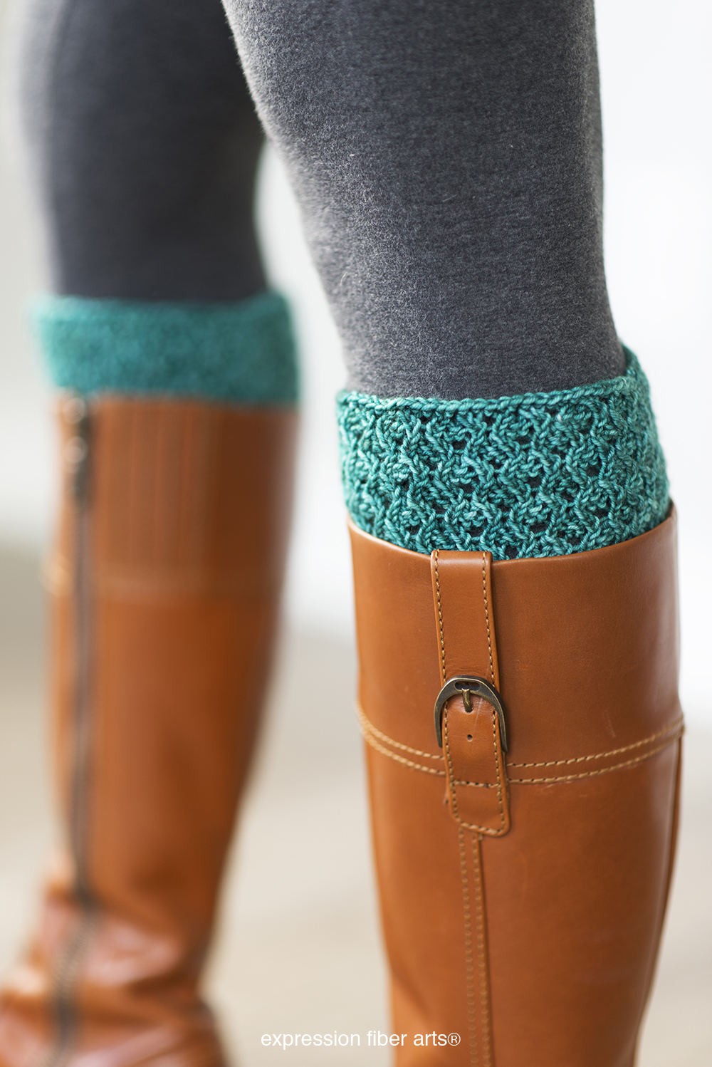 Free Knitting Patterns For Boot Toppers Danielle Knitted Boot Topper Pattern Expression Fiber Arts A