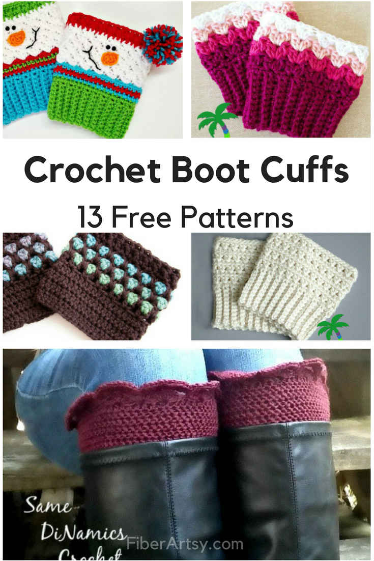 Free Knitting Patterns For Boot Toppers Free Boot Cuff Patterns For Crochet Fiberartsy