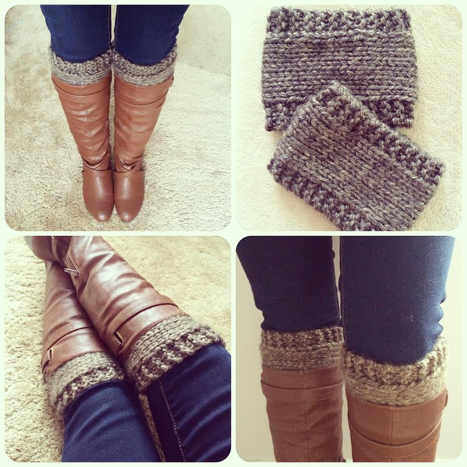 Free Knitting Patterns For Boot Toppers Free Pattern Knitted Boot Cuffsrevised Version Wake And Whimsy