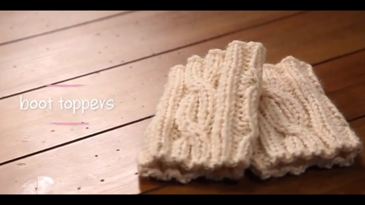Free Knitting Patterns For Boot Toppers Knit Boot Cuffs With Pattern 1 Hour Project Knitting Tutorial With Stefanie Japel
