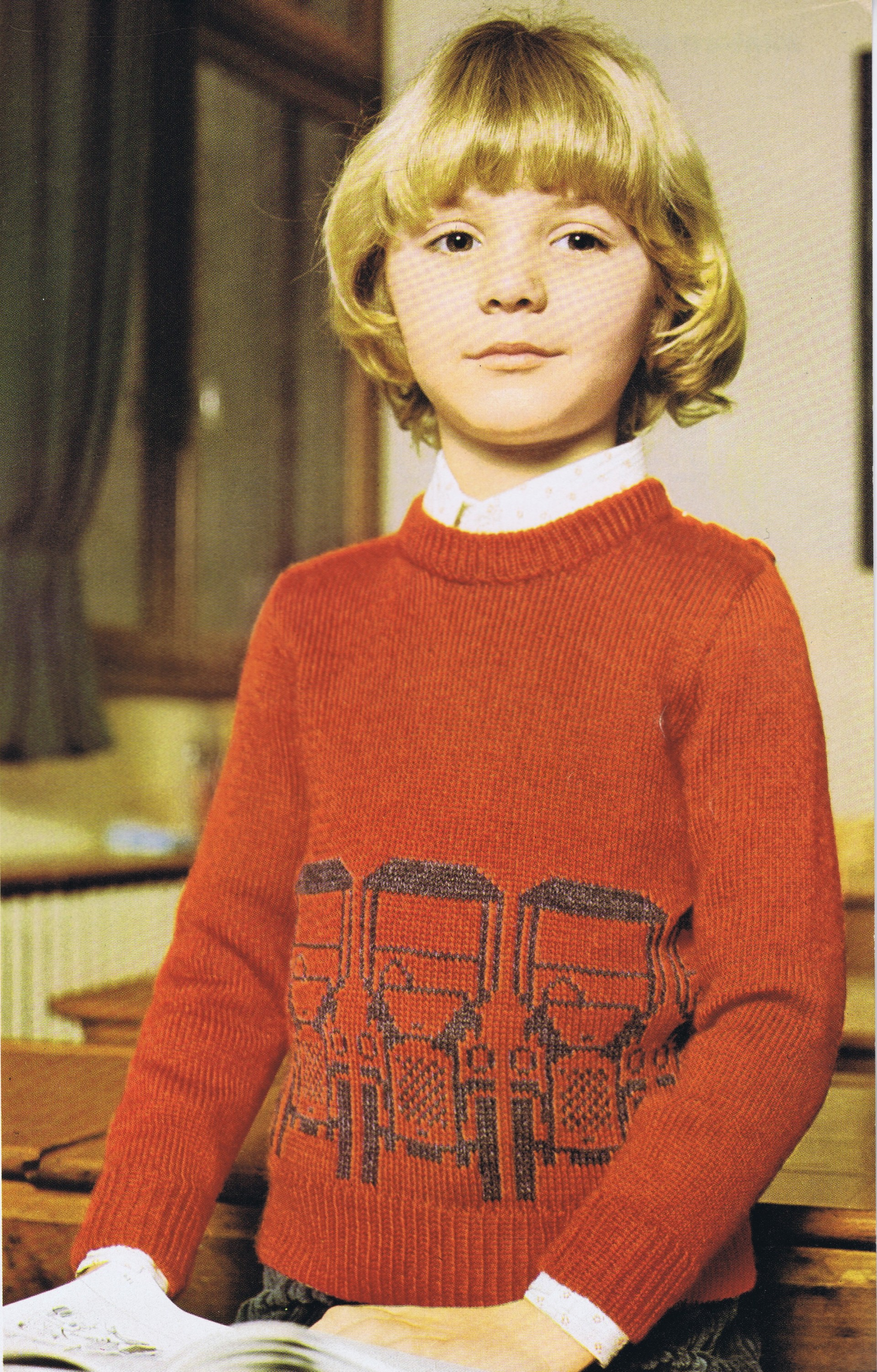 Free Knitting Patterns For Boys Free Knitting Pattern Vintage Boys Car Pullover