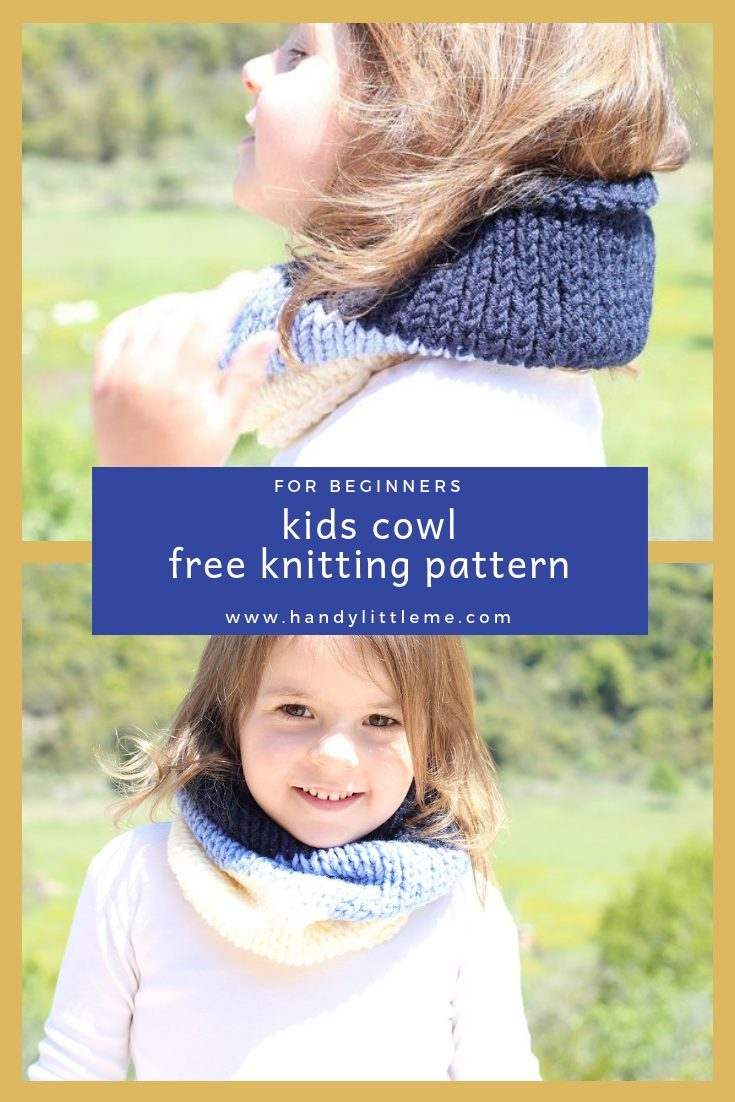 Free Knitting Patterns For Boys Kids Cowl Knitting Pattern Free Knitting Patterns Handy Little Me
