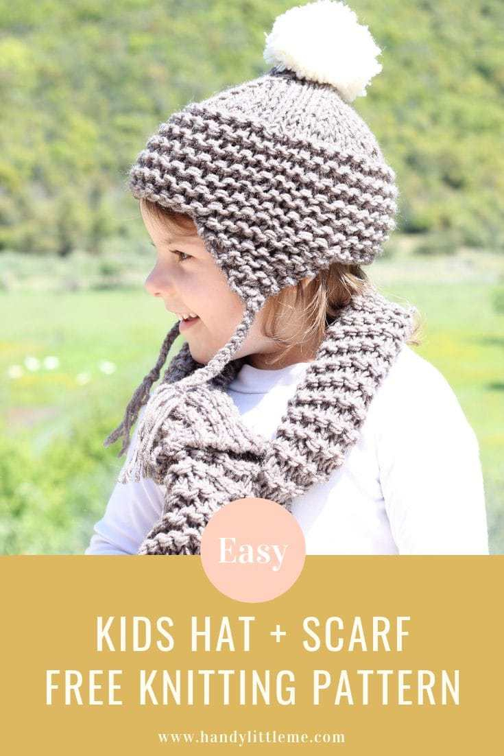 Free Knitting Patterns For Boys Kids Hat And Matching Scarf Free Knitting Patterns Handy Little Me
