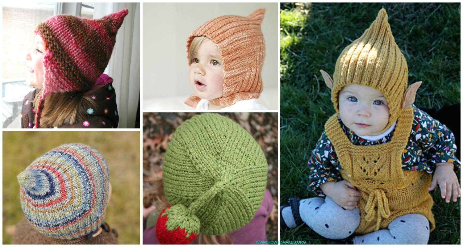Free Knitting Patterns For Boys Kids Pixie Hat Free Knitting Patterns