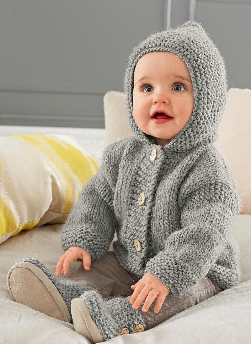 Free Knitting Patterns For Boys Knitted Hoodies For Babies Pattern Center