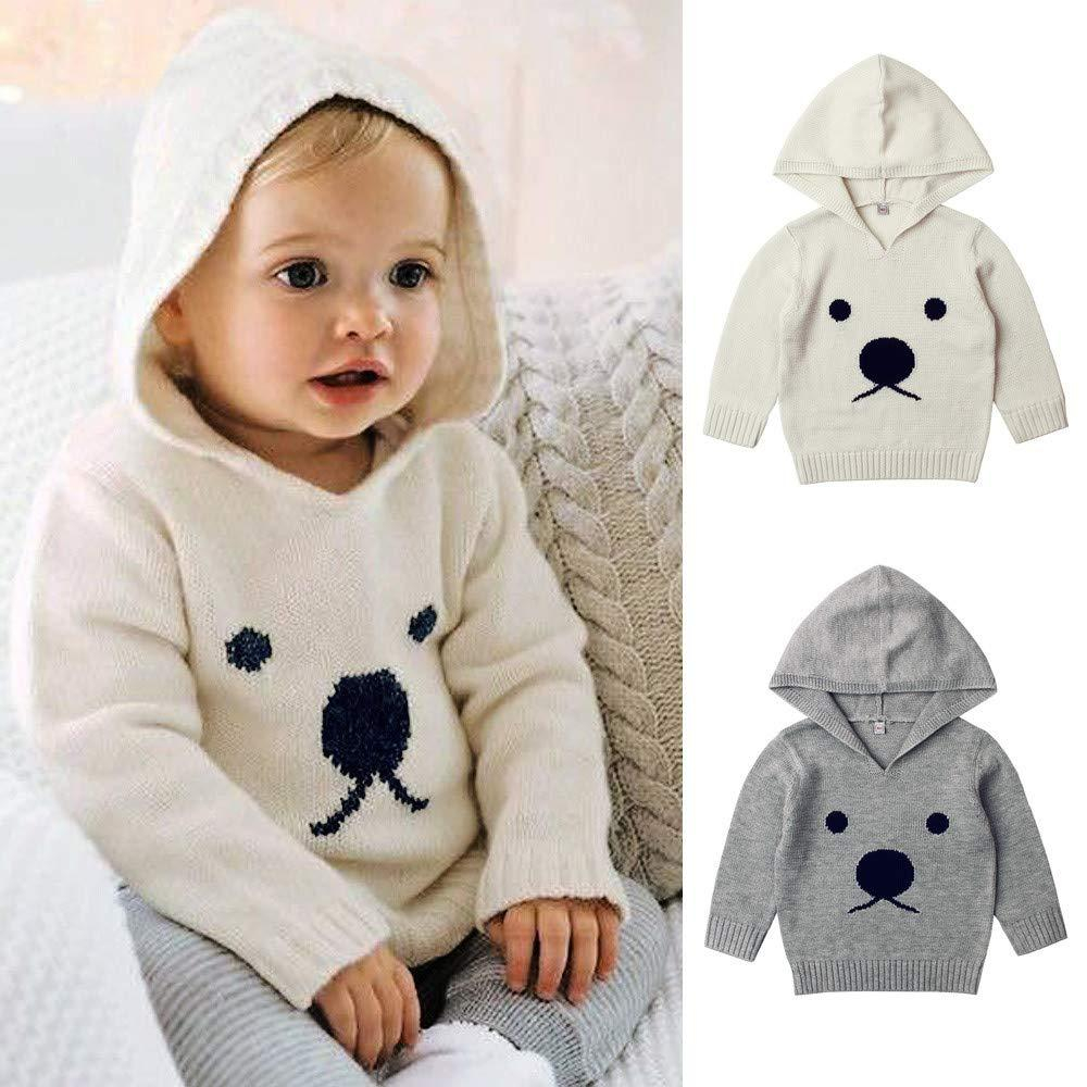 Free Knitting Patterns For Boys Knitted Sweater For Newborn Ba Boys Girls Clothes Infant Cartoon Bear Outerwear Toddler Hooded Sweater For Ba 6m 12m 2t 3t