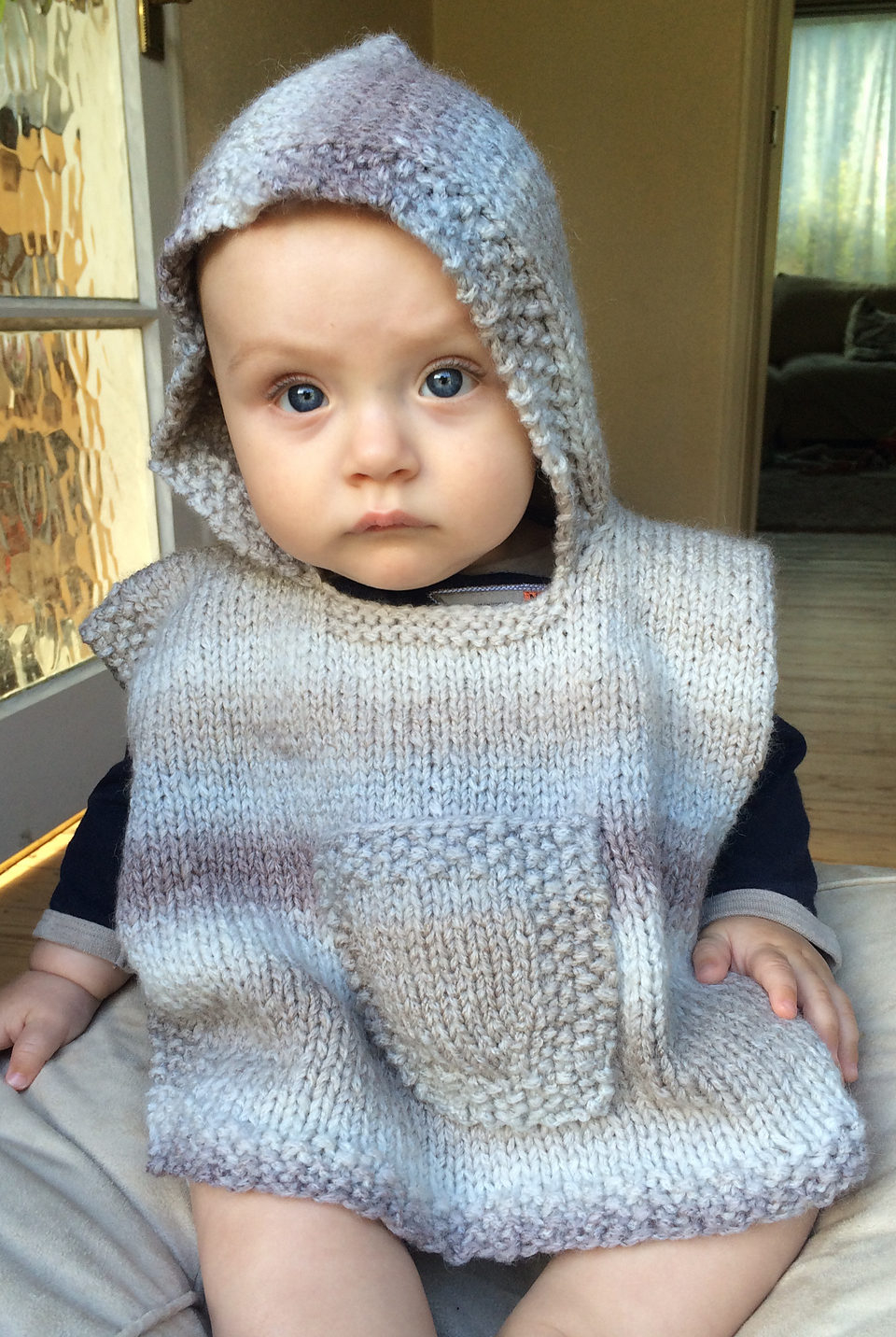 Free Knitting Patterns For Boys Ponchos For Babies And Children In The Loop Knitting