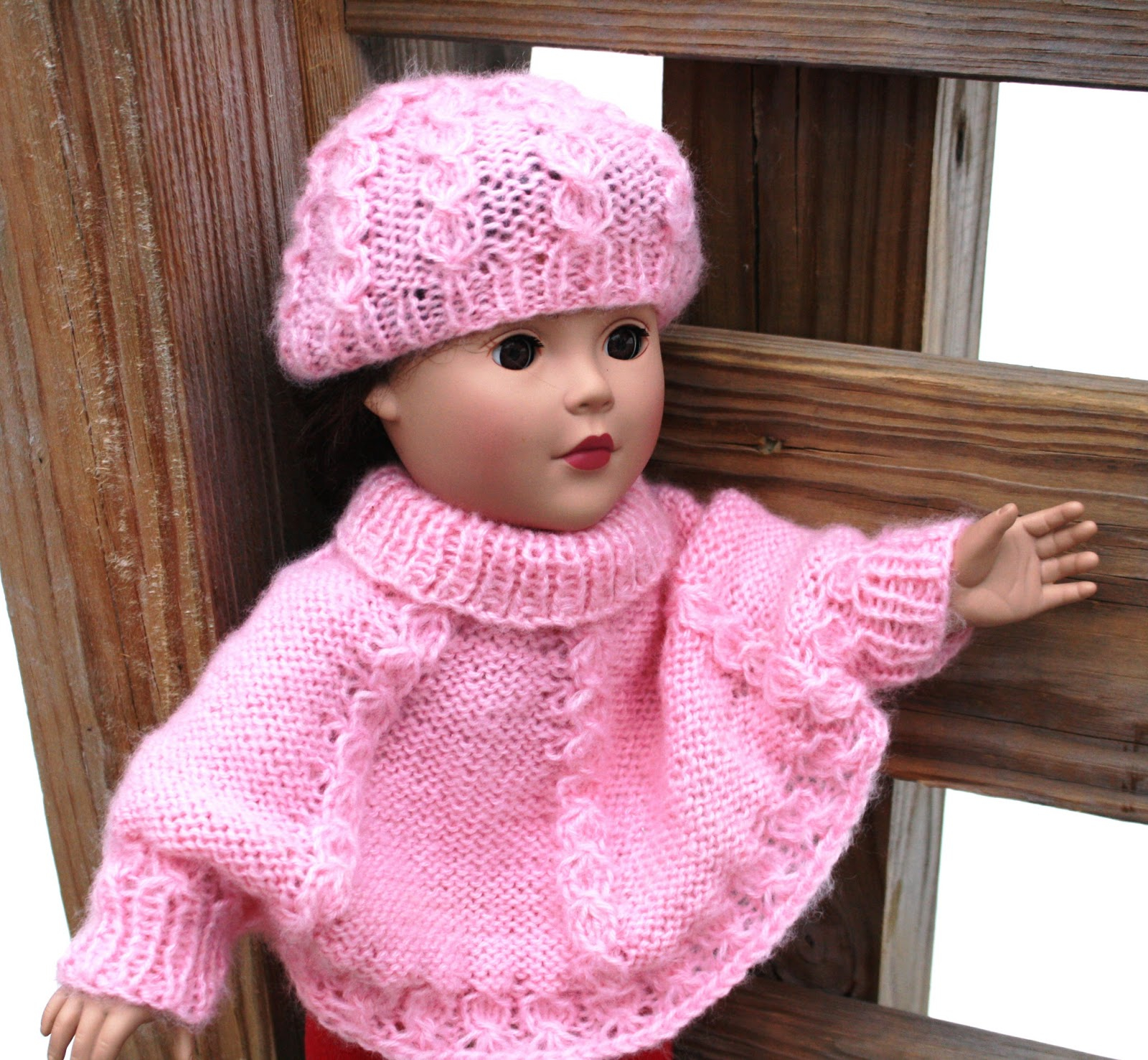 Free Knitting Patterns For Dolls Hats All Knitted Lace New Pattern Cable Sweater And Hat Set For 18 Doll