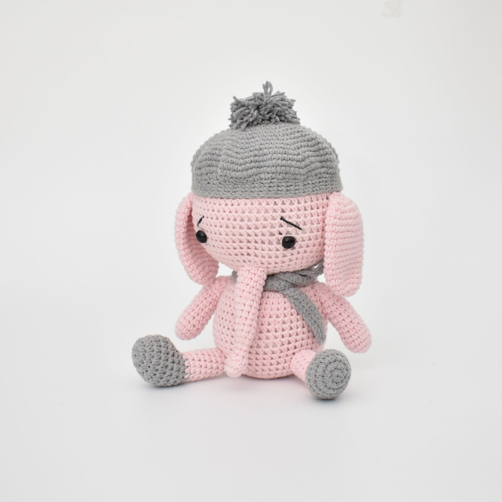 Free Knitting Patterns For Dolls Hats Details About Ba Elephant With Hat Handmade Amigurumi Stuffed Toy Knitting Crochet Doll