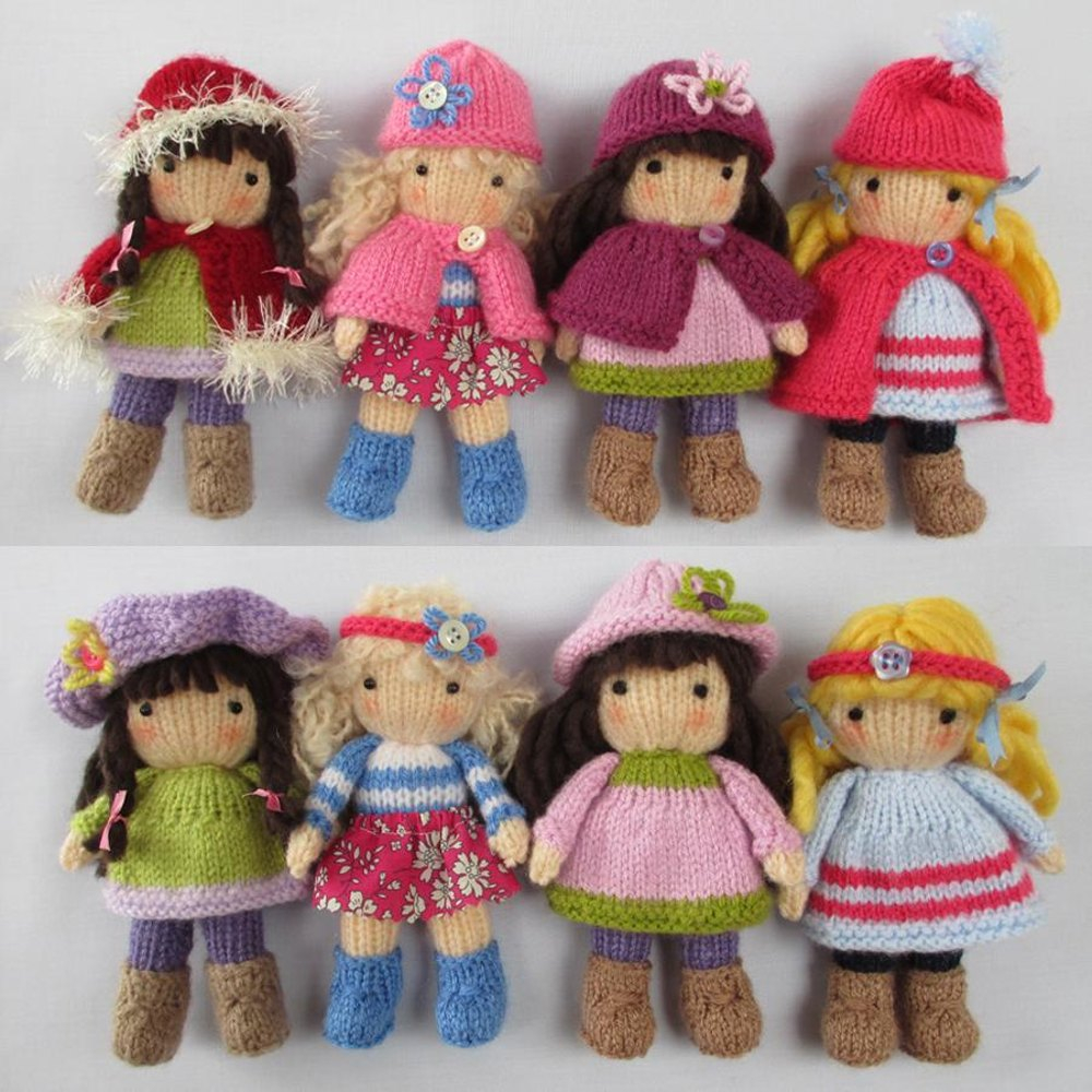 Free Knitting Patterns For Dolls Hats Doll Threadsnstitches